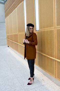 Wilfred Coat with Black Beret